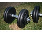 Jednoručky činky 2x25kg za 2500,- NOVÉ