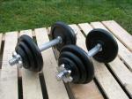 Jednoručky činky 2x10kg za 1090kč - NOVÉ