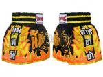 Muay Thai trenky TWINS (Muaythai Shorts Black Tiger with Orange Fire) [TWN-S010]