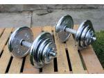 Jednoručky činky 2x20kg za 2850,- CHROM