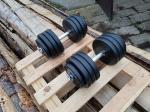 Jednoručky činky 2x17kg za 1150,-Kč