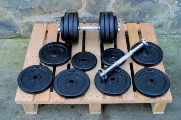 Jednoručky činky 2x37kg za 3700,-Kč NOVÉ