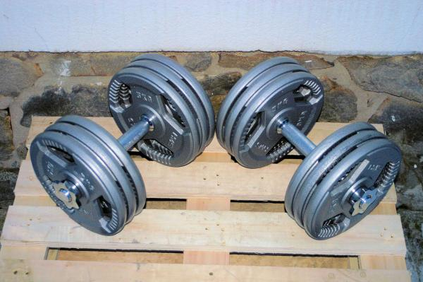 Jednoručky činky 2x33kg za 3300,- NOVÉ