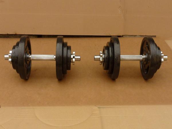Jednoručky činky 2x20kg za 2000,-kč - nové