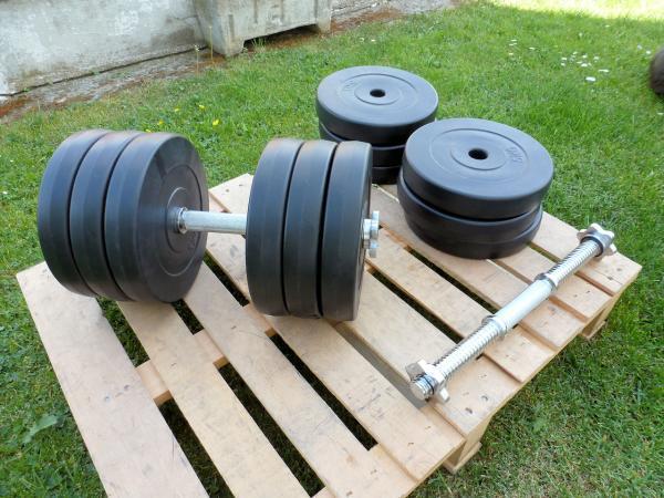 Jednoručky činky 2x33kg za 1990,- nové