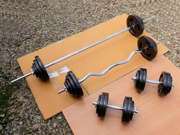 Sada Fitness 148kg za 10990,- (nová)
