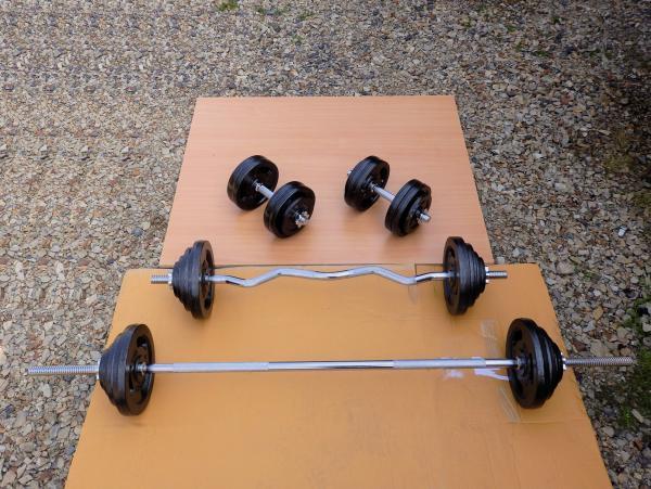 Sada Fitness 148kg za 14990,- (nová)