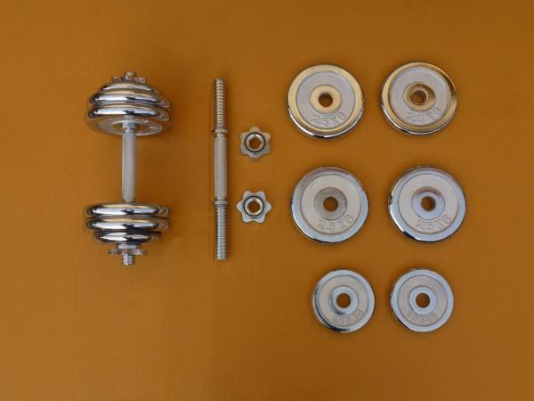 Jednoručky činky 2x15kg za 1900,- CHROM