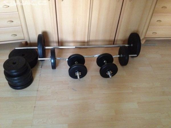Sestavička: fitness sada 85kg za 3000,-