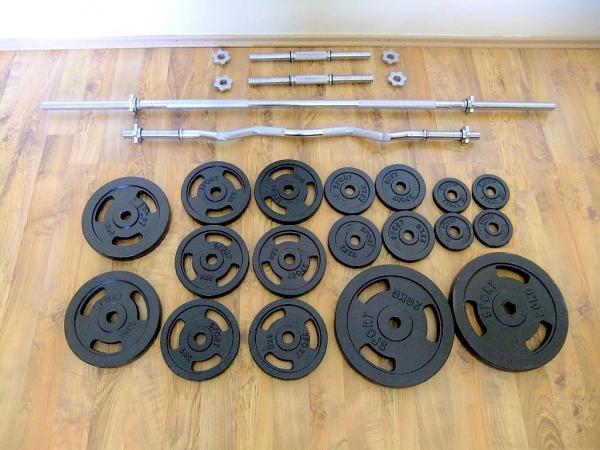 činky - Fitness sestava 126kg za 9290,- (NOVÁ)