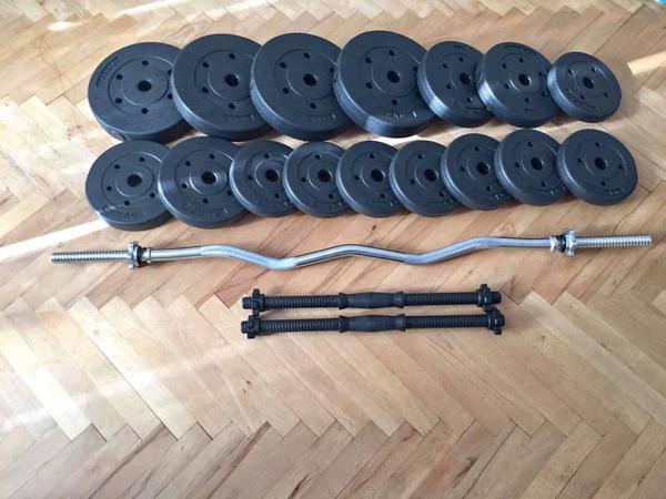 Sestavička: fitness sada 93kg za 3500,-