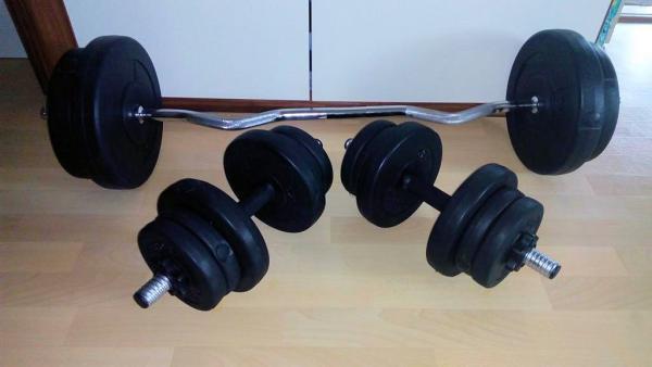 Sestavička: fitness sada 73kg za 2400,-