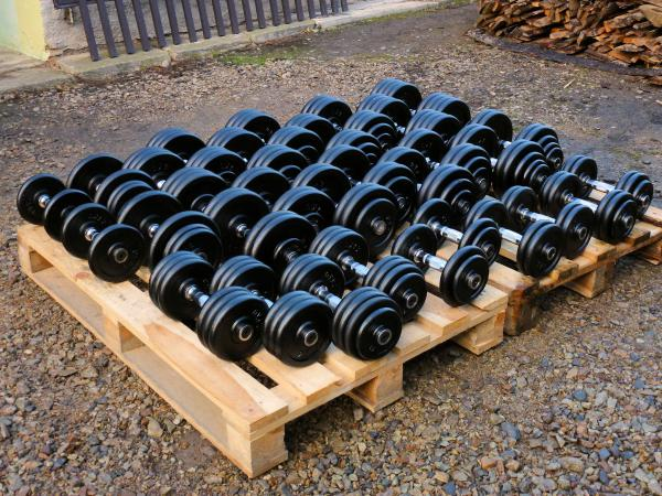 SADA činek jednoruček 5-40kg (celkem 675kg)