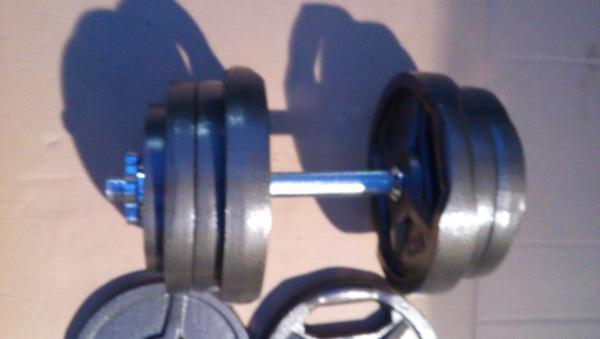 Jednoruční činky 2x25kg