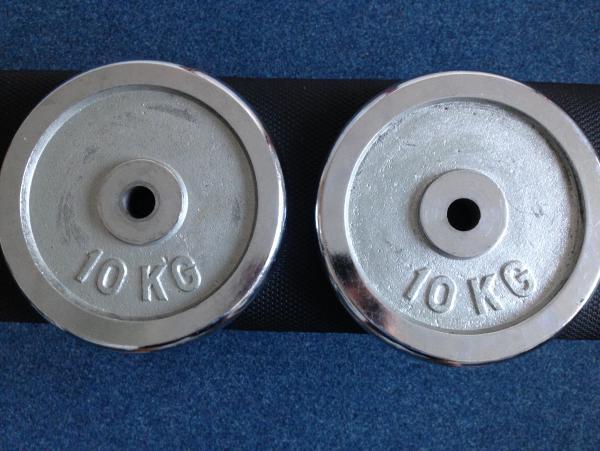 Kotouče chrom 10kg pro osu 30mm
