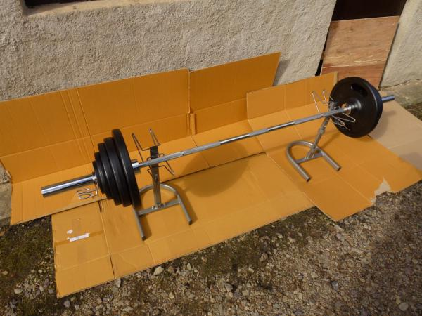 Bench činka 132kg OLYMPIC (NOVÁ)