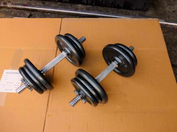 Jednoručky činky 2x10kg za 1150kč