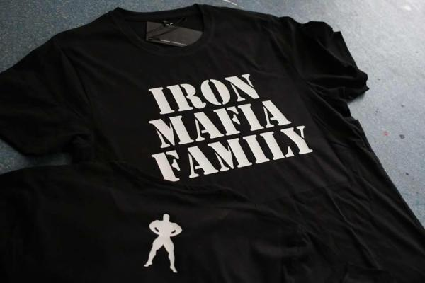 Tričko iron-mafia kulturistické oblečení