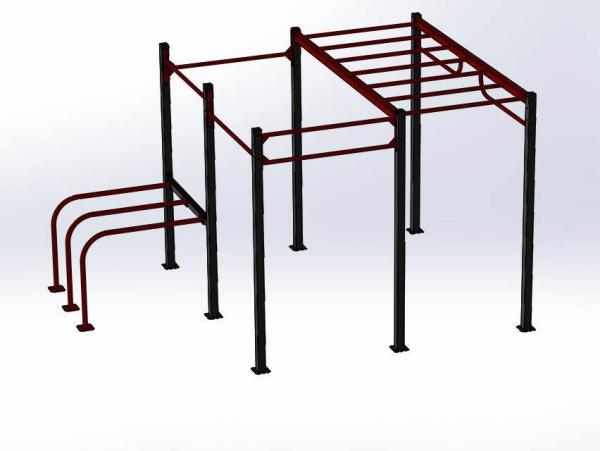 Workoutové hřiště, venkovní i vnitřní konstrukce