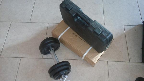 Jednoručky činkový set 2x15kg