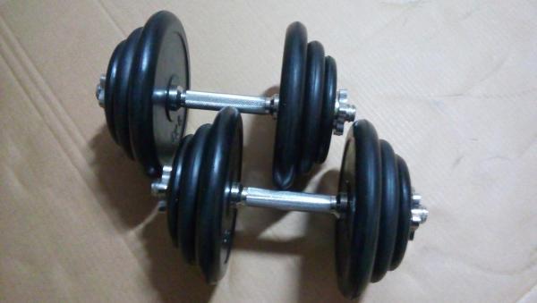 JEDNORUČNÍ ČINKY POGUMOVANÉ 2 x 19 kg