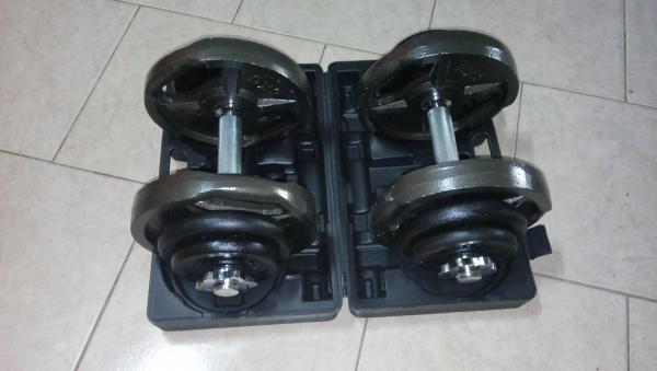 Jednoručky činkový set 2x20kg