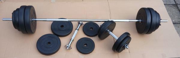 Nakládací činkový set 3- 50 kg