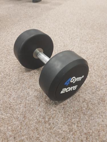 Jednoruční činky pogumované 2,5 - 60 kg