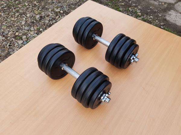 Jednoručky činky 2x14kg za 990,-Kč