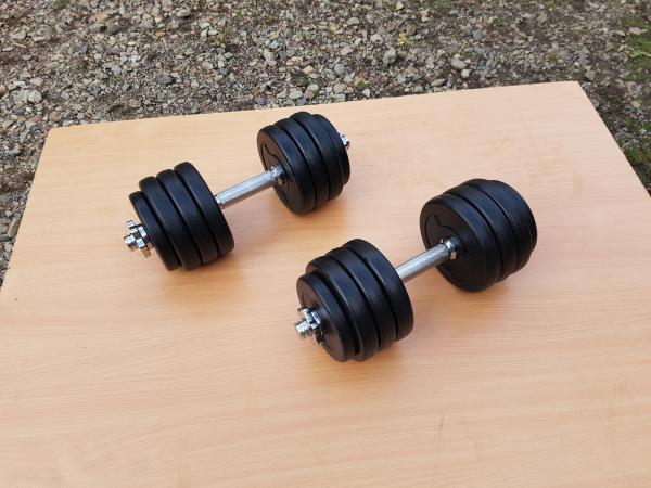 Jednoručky činky 2x13kg za 950,-Kč