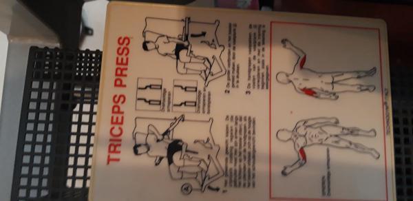 Triceps press Technogym