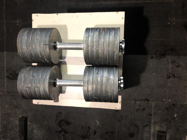 Ocelové jednoručky 2x44kg